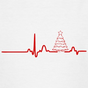 EKG HERZLINIE CHRISTMAS rot - Teenager T-Shirt