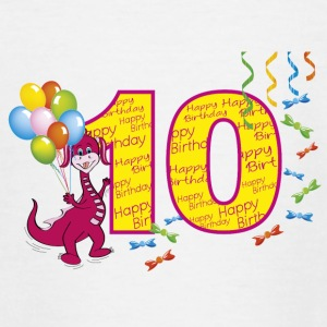 Tenth birthday 10 year old girl with dragette - Teenage T-shirt