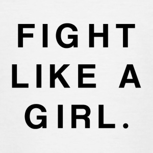 Fight Like a Girl - T-shirt tonåring
