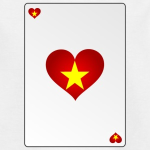 Vietnam Card Heart Ass Heart - Teenage T-shirt