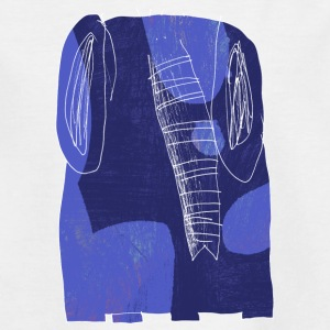blue elephant - Teenager T-shirt