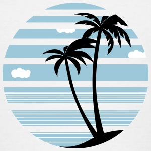Palms Holiday Sea beach 04 round ontwerpen - Teenager T-shirt