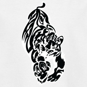 running big tiger black - Teenage T-shirt
