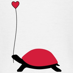 Turtle med hjerte ballon - Teenager-T-shirt