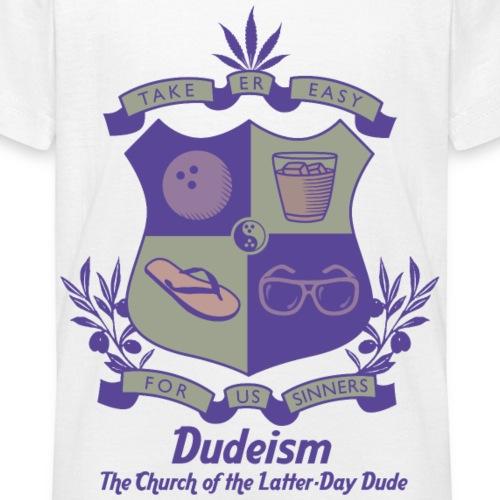 Scudo d Arme Dudeismo - Maglietta per ragazzi