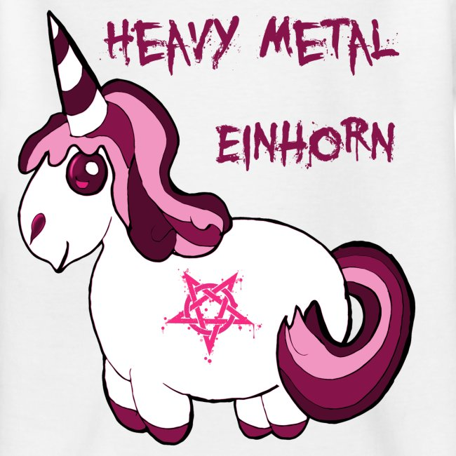Heavy Metal Einhorn | Teenager T-Shirt