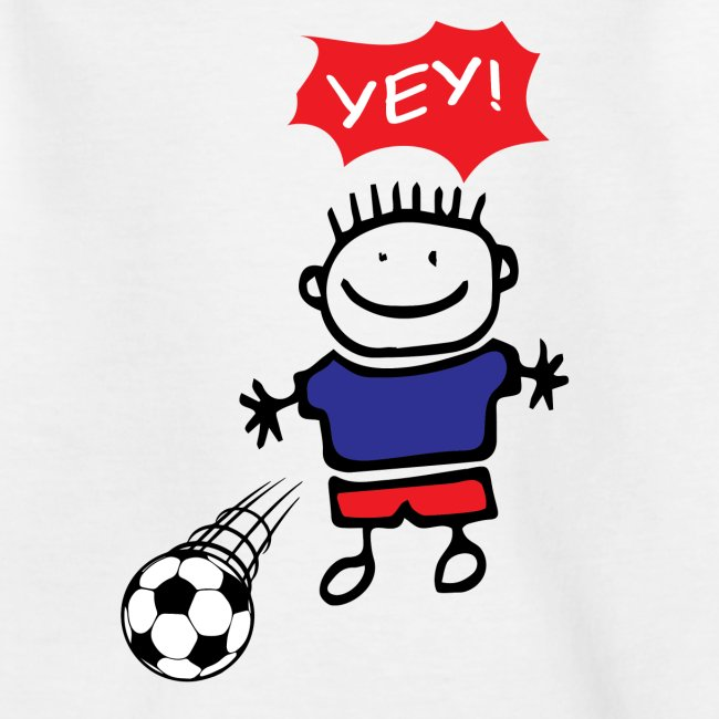 Fussball Junge Spielt Mit Einem Ball Yey Teenager T Shirt