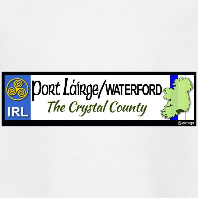 WATERFORD, IRELAND: licence plate tag style decal