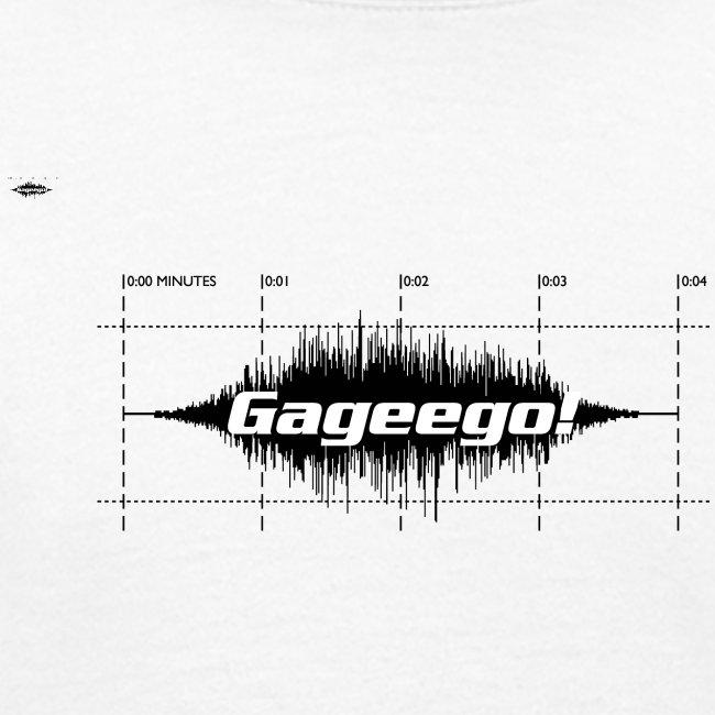 Gageego logga vit text