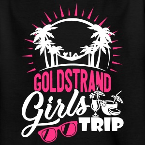 Guld strand piger tur - Teenager-T-shirt