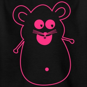 Maus pink Silhouette - Teenager T-Shirt