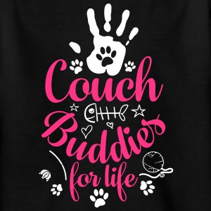 Cat Cat Couch Buddies - Teenager-T-shirt