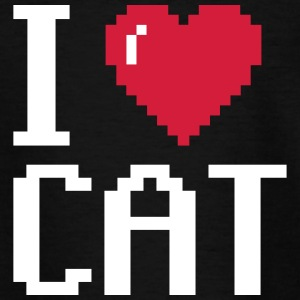 I Love Cat - T-shirt tonåring