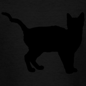 Vector Cat Silhouette - Teenager-T-shirt