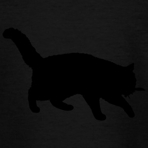 Vector Cat Silhouette - T-shirt Ado