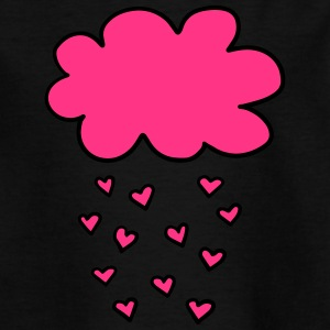 Cloud with hearts, Valentines Day, Love, spring - Teenage T-shirt