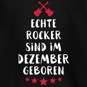 True Rocker zijn geboren in december - Teenager T-shirt