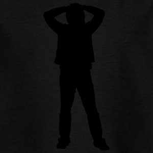 Man body Silhouette vector design - Teenage T-shirt
