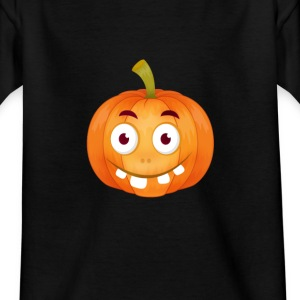 emoji pumpkin Happy Thanksgiving t-shirt comic stup - Teenage T-shirt