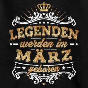 Legends er født i marts - Teenager-T-shirt