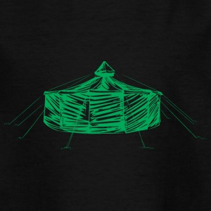 jurte_green - Teenager-T-shirt