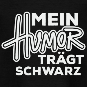 Humor schwarz - Teenager T-Shirt