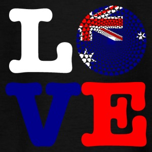 Australia Australia Love Heart Mandala - Teenage T-shirt