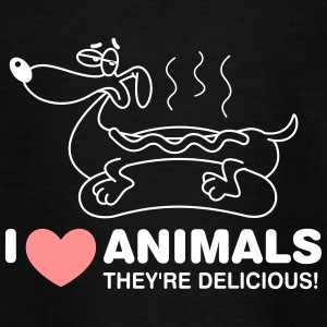 I Love Animals. They Are Absolutely Adorable! - Teenage T-shirt