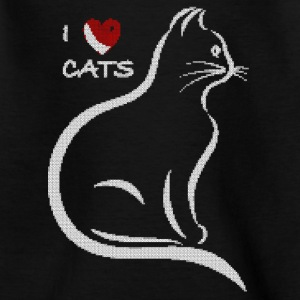 J'adore les chats. conception surpiqué. - T-shirt Ado
