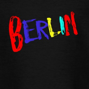 Berlin font colorful - Teenage T-shirt