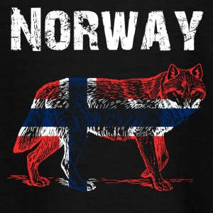 Nation-Design Norway Wolf - Teenage T-shirt