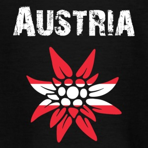 Nation-Design Austria Edelweiss - Teenager T-Shirt