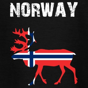 Nation-Design Norway Reindeer - Teenager T-Shirt