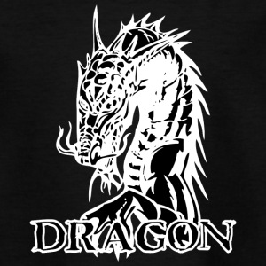 agry looking dragon black - Teenage T-shirt