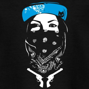bad swag rap gang revolver street art spray tatoo - Teenager T-Shirt