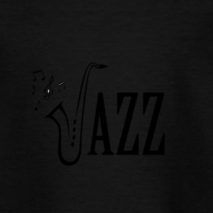 Cool Jazz Music Shirt, Saxophone and Musical notes - Teenage T-shirt