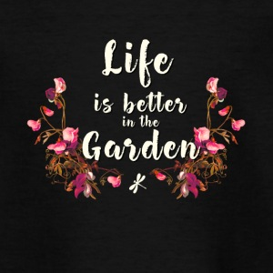Gardener plants flowers pour garden hobby live - Teenage T-shirt
