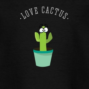 Cactus Love plant Nature pot green Comic Funny lo - Teenage T-shirt