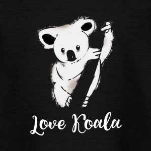 koala ours accroché arbre froid sieste taille basse froid lol - T-shirt Ado