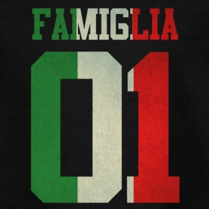 familie 01 italia italy queen king ra regina famil - Teenager T-Shirt