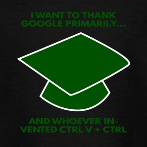 High School / Graduation: Ik wil bedanken Google - Teenager T-shirt