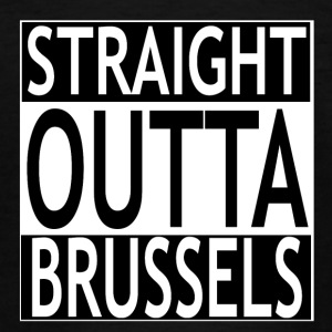 Straight outta Brussels - Teenager T-Shirt