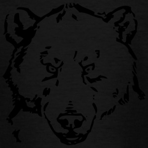 Black bear head - Teenage T-shirt