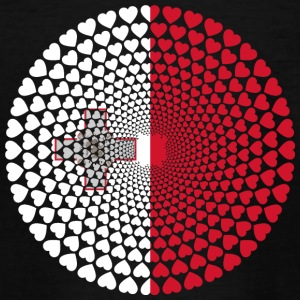 MALTA LOVE HEART MANDALA - Teenage T-shirt