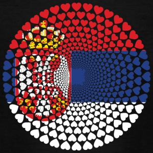 Serbien Serbien Србија Srbija Love Heart Mandala - Teenager-T-shirt