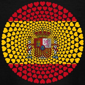 Spain Spain España Love HEART Mandala - Teenage T-shirt