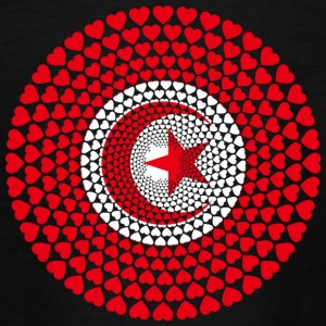 Tunisia Tunesien تونس‎‎ ⵜⵓⵏⴻⵙ Love HERZ Mandala - Teenager T-Shirt