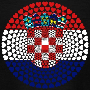 Croatia Croatia Hrvatska Love HERZ Mandala - Teenage T-shirt