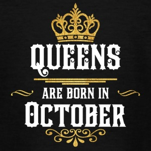 Queens Happy Birthday! Oktober! - T-skjorte for tenåringer
