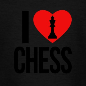 I LOVE CHESS - Teenager-T-shirt